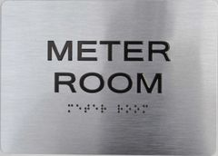Meter Room ADA Sign - The sensation line