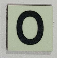 Glow in dark Number 0 sign The Liberty Line (Aluminum SIGNS 1x1, 3 RCNY §505-01)