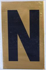 Apartment number sign N – (GOLD ALUMINUM SIGNS 4X2.5)