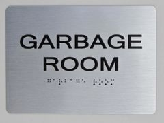 GARBAGE ROOM ADA Sign - The sensation line