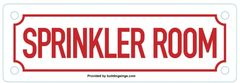 SPRINKLER ROOM SIGN (ALUMINUM SIGNS 2X6)