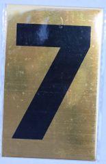 Apartment number sign 7 – (GOLD, ALUMINUM SIGNS 4X2.5)