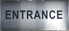 ENTRANCE SIGN - BRUSHED ALUMINUM (ALUMINUM SIGNS 3.5X8)- The Mont Argent Line