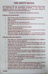DOOR FIRE SAFETY NOTICE SIGN - FIREPROOF BUILDING ( Red,Aluminium,Size 8x5.5)