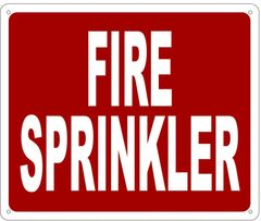FIRE SPRINKLER SIGN- REFLECTIVE !!! (ALUMINUM 10X12)