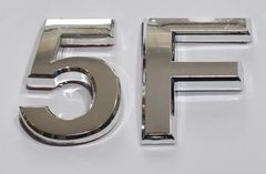 z- APARTMENT, DOOR AND MAILBOX LETTER 5F SIGN - LETTER SIGN 5 F- SILVER (HIGH QUALITY PLASTIC DOOR SIGNS 0.25 THICK)