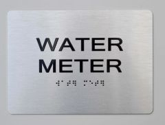 WATER METER ADA Sign - The sensation line