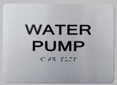 WATER PUMP ADA Sign - The sensation line
