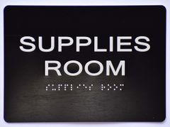 Supplies Room Sign