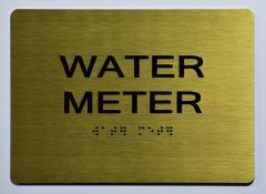 WATER METER SIGN- GOLD