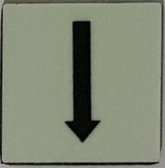 PHOTOLUMINESCENT DOWN ARROW SIGN The Liberty Line (Aluminum SIGNS 1x1, 3 RCNY §505-01)