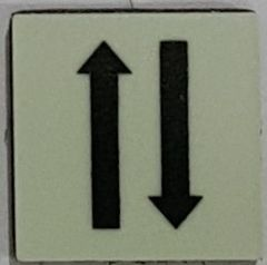 PHOTOLUMINESCENT 1 UP 1 DOWN ARROWS SIGN The Liberty Line (Aluminum SIGNS 1x1, 3 RCNY §505-01)
