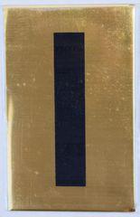 Apartment number sign I– (GOLD ALUMINUM SIGNS 4X2.5)
