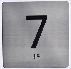 ELEVATOR JAMB- 7 - SILVER (ALUMINUM SIGNS 4X4)