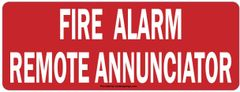 FIRE ALARM REMOTE ANNUNCIATOR SIGN- ROUND CORNERS (ALUMINUM SIGNS 3X8)