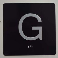 ELEVATOR JAMB- G - BLACK (ALUMINUM SIGNS 4X4)