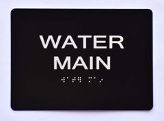WATER MAIN SIGN
