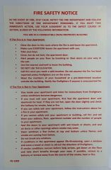 DOOR FIRE SAFETY NOTICE - NON FIREPROOF BUILDING (Sticker 8x5.5)