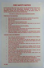DOOR FIRE SAFETY NOTICE - NON FIREPROOF BUILDING (Sticker 8x5.5)