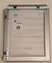 Business license frame PA 8.5x11 ( Heavy Duty )