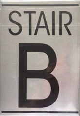 STAIR B SIGN – BRUSHED ALUMINUM