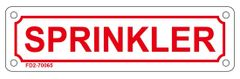 SPRINKLER SIGN (ALUMINUM SIGN SIZED 2X7)