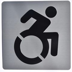 ACCESSIBLE SYMBOL SIGN - SILVER