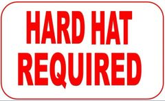 HARD HAT REQUIRED ( Aluminum sign ) (12X15.5)