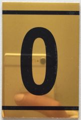z-NUMBER ZERO SIGN – 0 SIGN - GOLD ALUMINUM (2.25X1. 5)