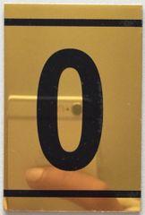 z-NUMBER ZERO SIGN – 0 SIGN - GOLD ALUMINUM (2.25X1. 5)
