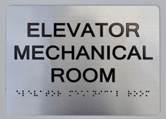 ELEVATOR MECHANICAL ROOM Sign ADA Sign - The sensation line