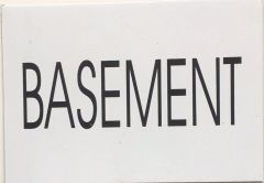 BASEMENT SIGN – WHITE BACKGROUND
