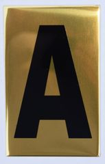 Apartment number sign A – (GOLD, ALUMINUM SIGNS 4X2.5)