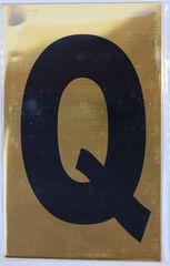 Apartment number sign Q – (GOLD ALUMINUM SIGNS 4X2.5)