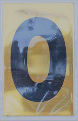 Apartment number sign 0 – (GOLD, ALUMINUM SIGNS 4X2.5)