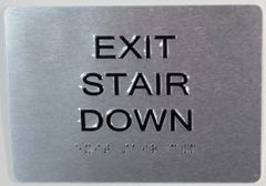 EXIT STAIR DOWN SIGN (ALUMINUM SIGNS 5X7)