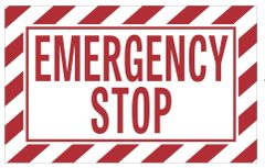 EMERGENCY STOP SIGN (ALUMINUM SIGNS 5X8)