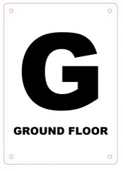 GROUND FLOOR SIGN - ALUMINIUM