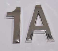z- APARTMENT, DOOR AND MAILBOX LETTER 1A SIGN - LETTER SIGN 1 A- SILVER (HIGH QUALITY PLASTIC DOOR SIGNS 0.25 THICK)