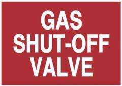 GAS SHUT-OFF VALVE SIGN (ALUMINUM SIGNS 3.5X5)