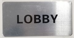 FLOOR NUMBER SIGN - LOBBY SIGN -BRUSHED ALUMINIUM (ALUMINUM SIGNS 4X8)- The Mont Argent Line