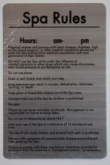 GUIDE FOR THE USE OF THE SPA- BRUSHED ALUMINUM (ALUMINUM SIGNS 11 X 8.5)