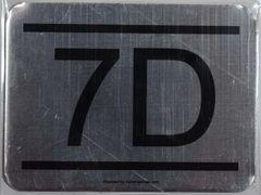 z- APARTMENT NUMBER SIGN – 7D -BRUSHED ALUMINUM (ALUMINUM SIGNS 2.25X3)