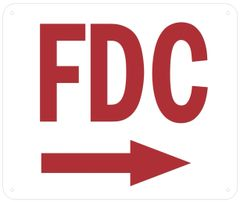 FDC RIGHT SIGN (ALUMINUM SIGNS 10 X 12)