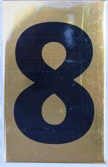 Apartment number sign 8 – (GOLD, ALUMINUM SIGNS 4X2.5)