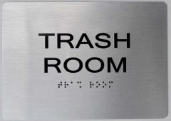 TRASH ROOM Sign ADA Sign - The sensation line