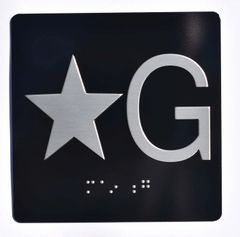 ELEVATOR JAMB- STAR G – BLACK (ALUMINUM SIGNS 4X4)