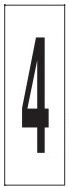 "PHOTOLUMINESCENT DOOR NUMBER 4 SIGN HEAVY DUTY / GLOW IN THE DARK ""DOOR NUMBER FOUR"" SIGN HEAVY DUTY (ALUMINUM SIGN/ APARTMENT AND EMERGENCY MARKINGS 1.5 X 0.5)"