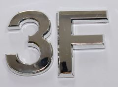 z- APARTMENT, DOOR AND MAILBOX LETTER 3F SIGN - LETTER SIGN 3 F- SILVER (HIGH QUALITY PLASTIC DOOR SIGNS 0.25 THICK)
