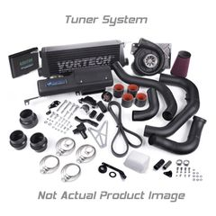VORTECH Tuner Kit, '11/'12 Mustang 5.0 GT, V-7 JT-Trim, with A/A Clr, 8 rib, Comp Inlet, Satin Finish 4FQ218-120JT